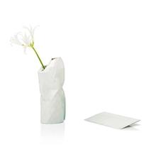 Paper Vase Cover Small White Watercolour