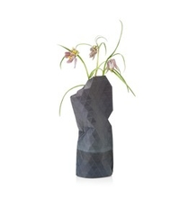 Paper Vase Cover Small Grey Watercolour