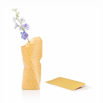 Paper Vase Cover Small Yellow Tones