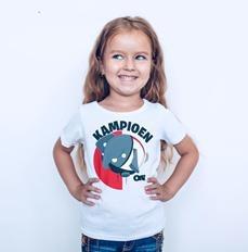 Olli Kampioen T-shirt Wit Kids 10 jaar