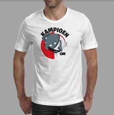 Olli Kampioen T-shirt Wit maat XL