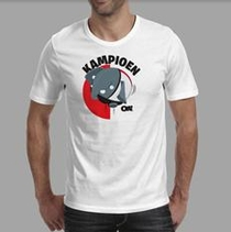 Olli Kampioen T-shirt Wit maat XXL