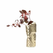Paper Vase Cover Gold Small