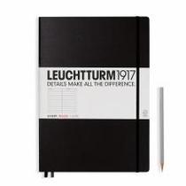 Leuchtturm A4+ Master Classic Black Ruled Hardcover Notebook