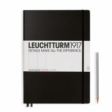 Leuchtturm A4+ Master Classic Black Dotted Hardcover Notebook