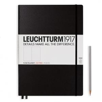 Leuchtturm A4+ Master Slim Black Dotted Hardcover Notebook