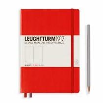 Leuchtturm A5 Medium Red Plain Hardcover Notebook