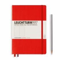 Leuchtturm A5 Medium Red Dotted Hardcover Notebook