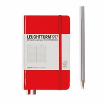 Leuchtturm A6 Pocket Red Ruled Hardcover Notebook