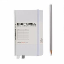 Leuchtturm A6 Pocket White Ruled Hardcover Notebook