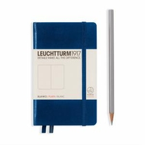Leuchtturm A6 Pocket Navy Plain Hardcover Notebook