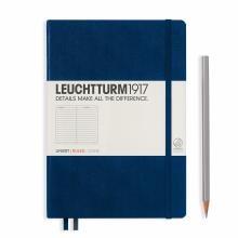 Leuchtturm A5 Medium Navy Ruled Hardcover Notebook