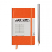 Leuchtturm A6 Pocket Orange Ruled Hardcover Notebook