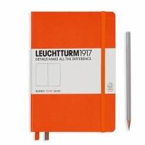 Leuchtturm A5 Medium Orange Plain Hardcover Notebook