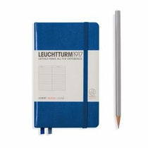 Leuchtturm A6 Pocket Royal Blue Ruled Hardcover Notebook