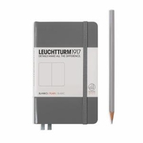 Leuchtturm A6 Pocket Anthracite Plain Hardcover Notebook