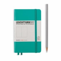 Leuchtturm A6 Pocket Emerald Plain Hardcover Notebook