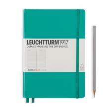 Leuchtturm A5 Medium Emerald Ruled Hardcover Notebook