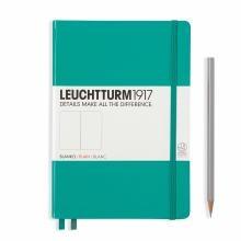 Leuchtturm A5 Medium Emerald Plain Hardcover Notebook