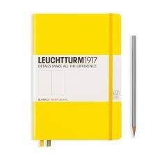 Leuchtturm A5 Medium Lemon Plain Hardcover Notebook