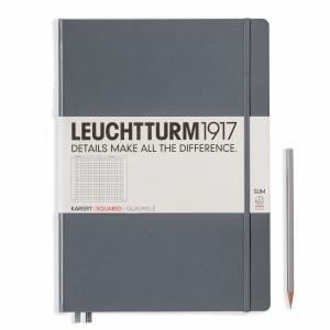 Leuchtturm A4+ Master Slim Anthracite Squared Hardcover Notebook