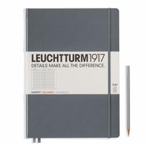 Leuchtturm A4+ Master Slim Anthracite Squared Hardcover Notebook