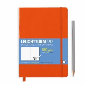 Leuchtturm A5 Sketch Book Medium Orange Hardcover