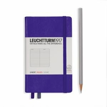 Leuchtturm A6 Pocket Purple Ruled Hardcover Notebook