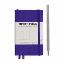Leuchtturm A6 Pocket Purple Dotted Hardcover Notebook