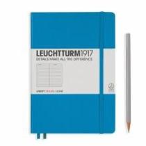 Leuchtturm A5 Medium Azure Ruled Hardcover Notebook