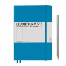 Leuchtturm A5 Medium Azure Plain Hardcover Notebook