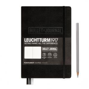 Leuchtturm Medium A5 Bullet Journal Black Dotted Hardcover Notebook