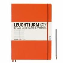 Leuchtturm A4+ Master Slim Orange Ruled Hardcover Notebook