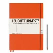 Leuchtturm A4+ Master Slim Orange Plain Hardcover Notebook