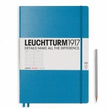Leuchtturm A4+ Master Slim Azure Ruled Hardcover Notebook