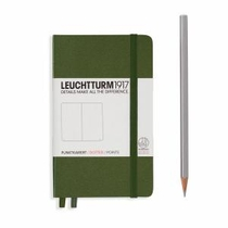 Leuchtturm A6 Pocket Army Plain Hardcover Notebook
