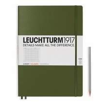 Leuchtturm A4+ Master Slim Army Squared Hardcover Notebook