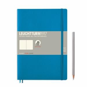 Leuchtturm B5 Azure Ruled Softcover Notebook