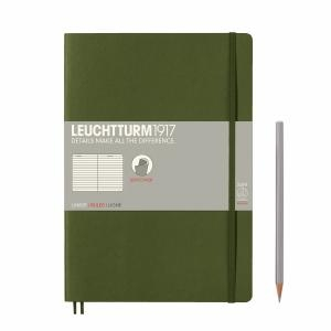 Leuchtturm B5 Army Ruled Softcover Notebook