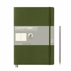 Leuchtturm B5 Army Dotted Softcover Notebook