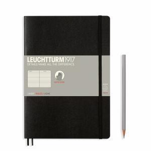 Leuchtturm B5 Black Ruled Softcover Notebook