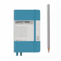 Leuchtturm A6 Pocket Nordic Blue Ruled Hardcover Notebook