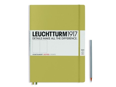 Leuchtturm A4+ Master Slim Sand Dotted Hardcover Notebook