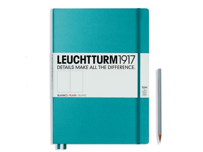 Leuchtturm A4+ Master Slim Nordic Blue Plain Hardcover Notebook