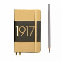 Leuchtturm A6 Pocket Gold Plain Hardcover Notebook Metallic Edition
