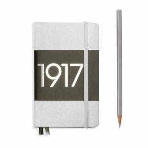 Leuchtturm A6 Pocket Silver Ruled Hardcover Notebook Metallic Edition