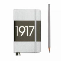 Leuchtturm A6 Pocket Silver Plain Hardcover Notebook Metallic Edition
