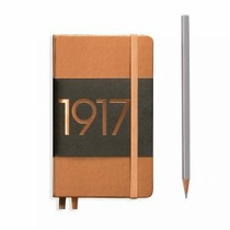Leuchtturm A6 Pocket Copper Plain Hardcover Notebook Metallic Edition