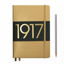 Leuchtturm A5 Medium Gold Ruled Hardcover Notebook Metallic Edition