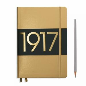 Leuchtturm A5 Medium Gold Plain Hardcover Notebook Metallic Edition